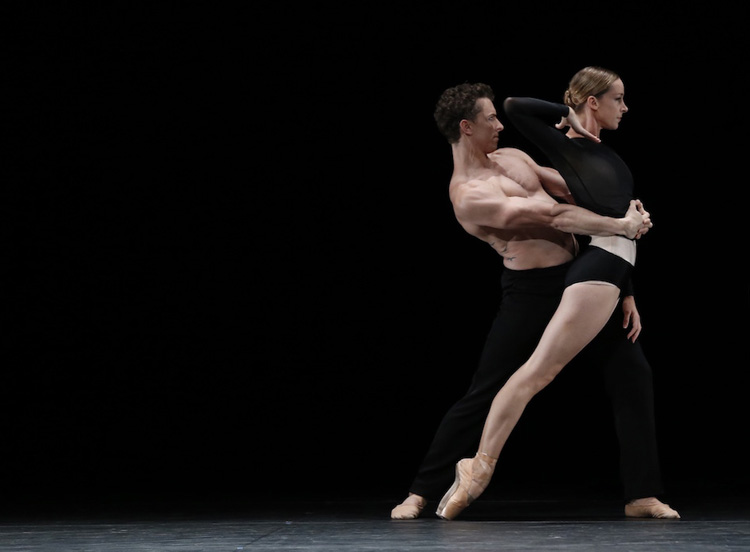 Kevin Jackson and Alice Topp of the Australian Ballet performing in Wayne McGregor's  Infra  by Jeff Busby