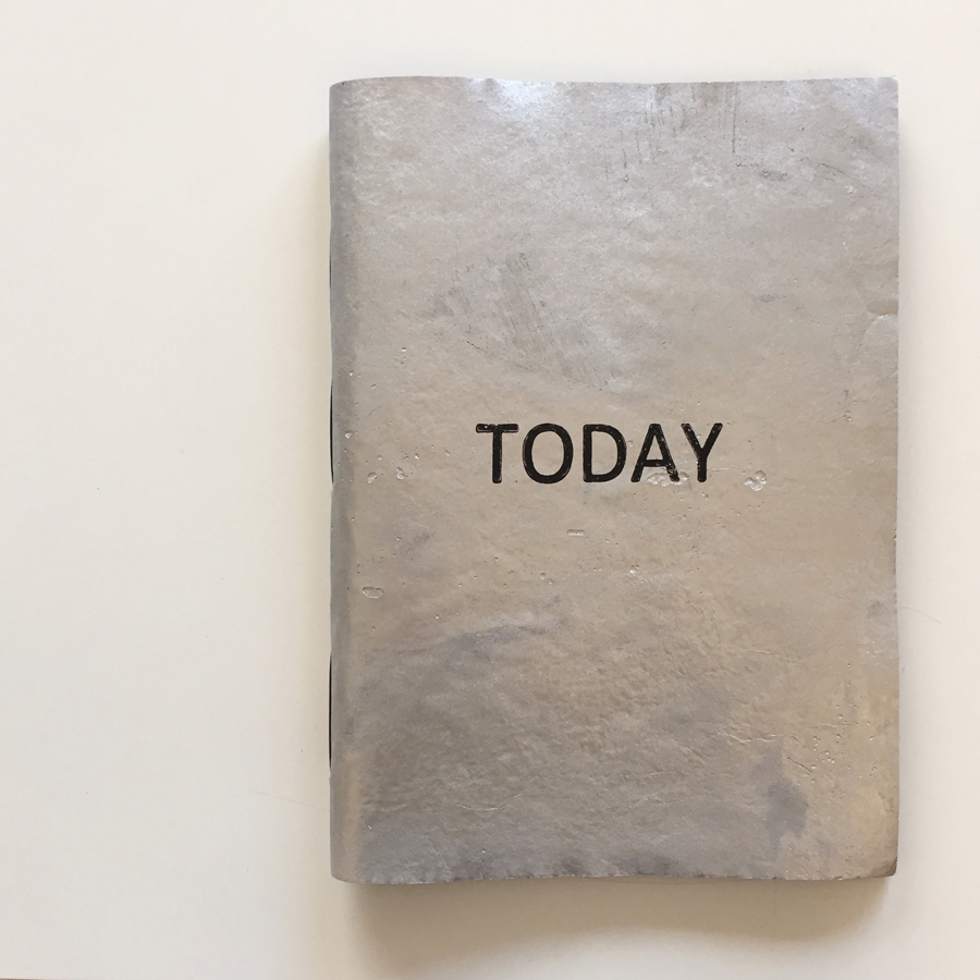 Today turned out to be silver after all. (  Today  , an artists' book by Theo Strasser, exhibited as part of   Empathy: Some Large Abstract Paintings  , at Stephen McLaughlan Gallery, Melbourne.)