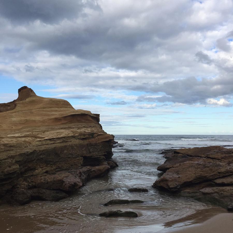 Yesterday,  we skipped across rocks .