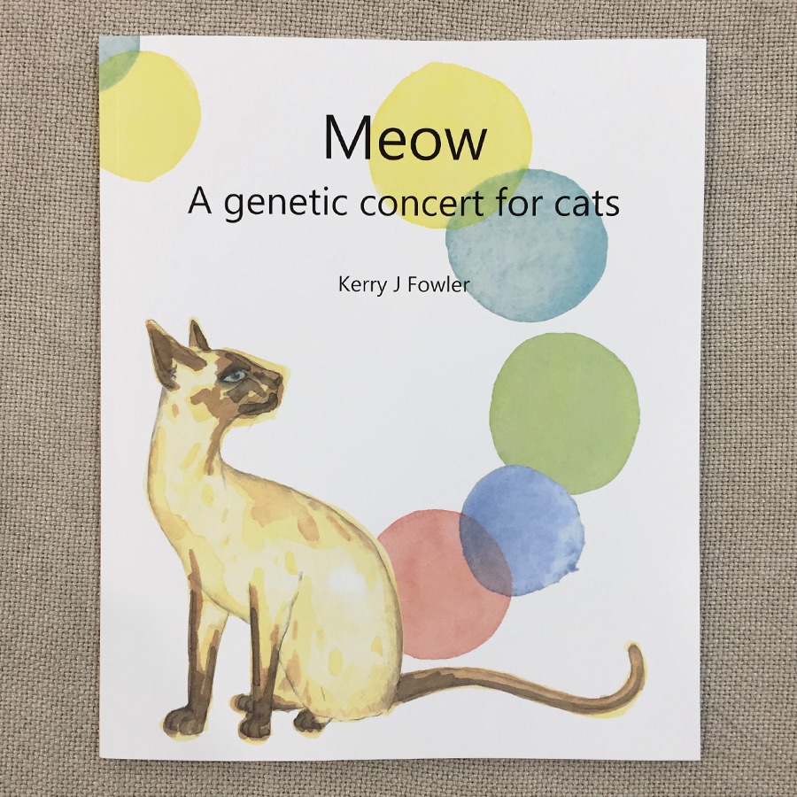 Meow: A Genetic Concert for Cats  by Kerry J. Fowler was launched on Sunday the 11th of June, at 10am, at the 45th ACF National Cat Show.