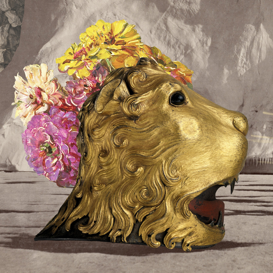 Cutting the floral manes  of golden lions on a Thursday night.