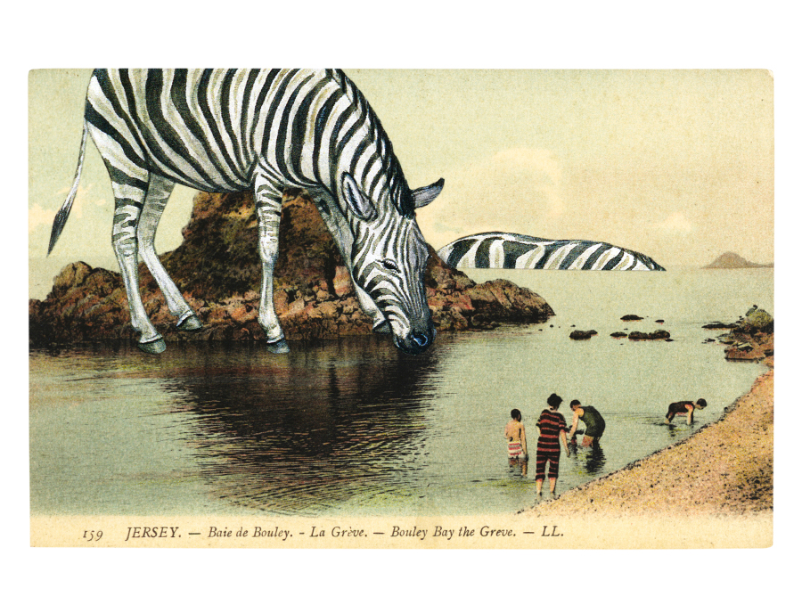 Gracia Haby,  I enjoy your company ,   2012, postcard collage