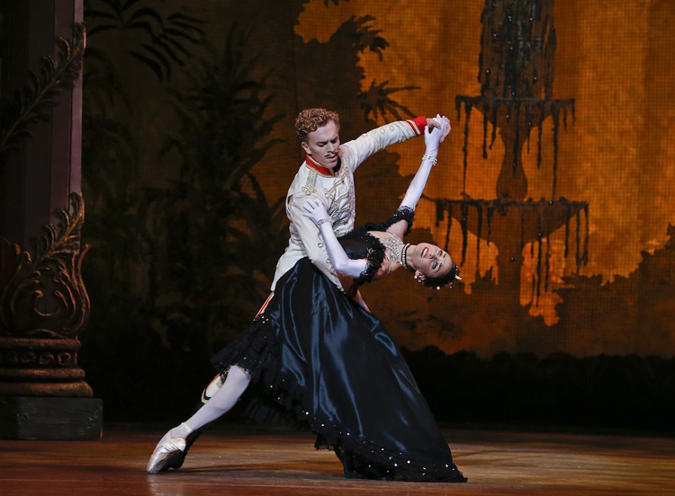 Kirsty Martin and Adam Bull as Hanna and Danilo perform  The Merry Widow , 2018, photographed by Jeff Busby
