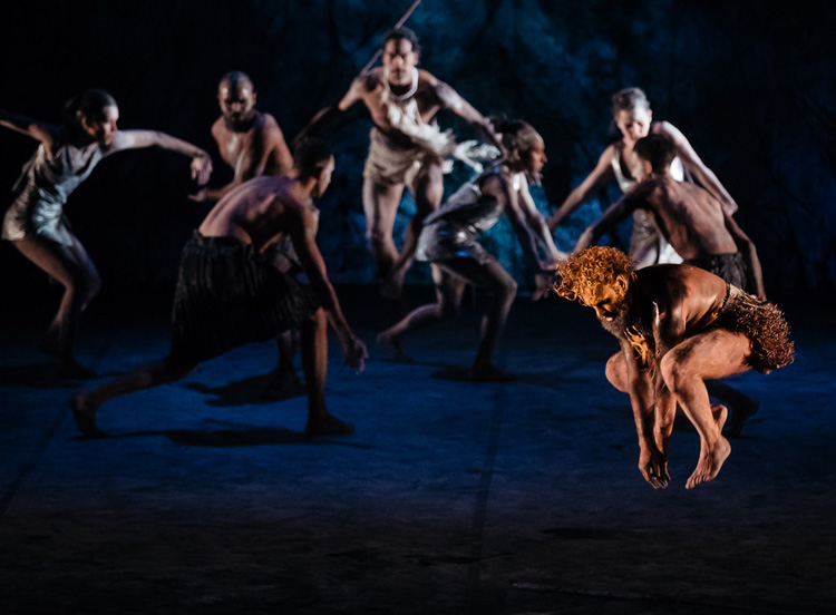 Bangarra Dance Theatre's  Dark Emu , 2018, photographed by Daniel Boud