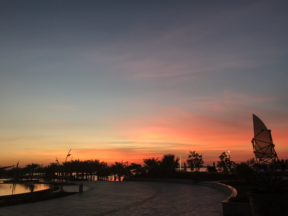 Sunset in Bahrain, the final night of the 24th WIBC.
