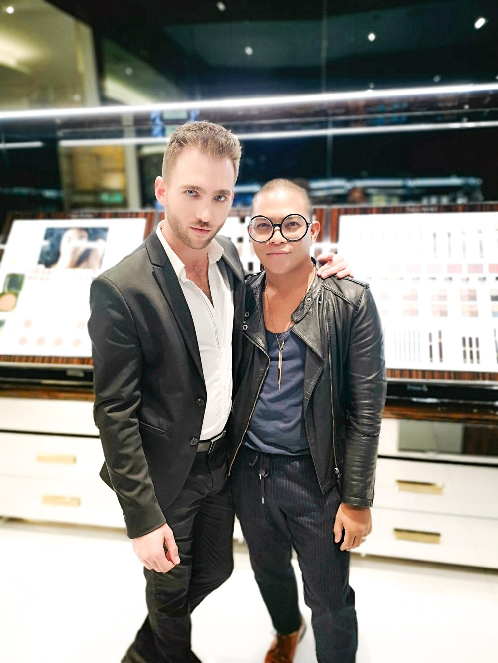 Domingo with TOM FORD make up artist.jpg