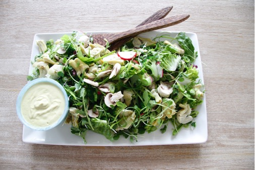 Detox Salad with Artichoke Mayonnaise - Lighter, Brighter You
