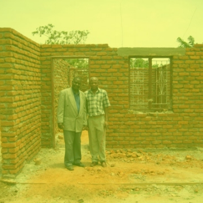 2011-WAM assists with the construction of teacher housing in Kabudula. -