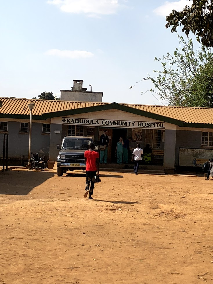 The entrance to Kabudula Community Hospital