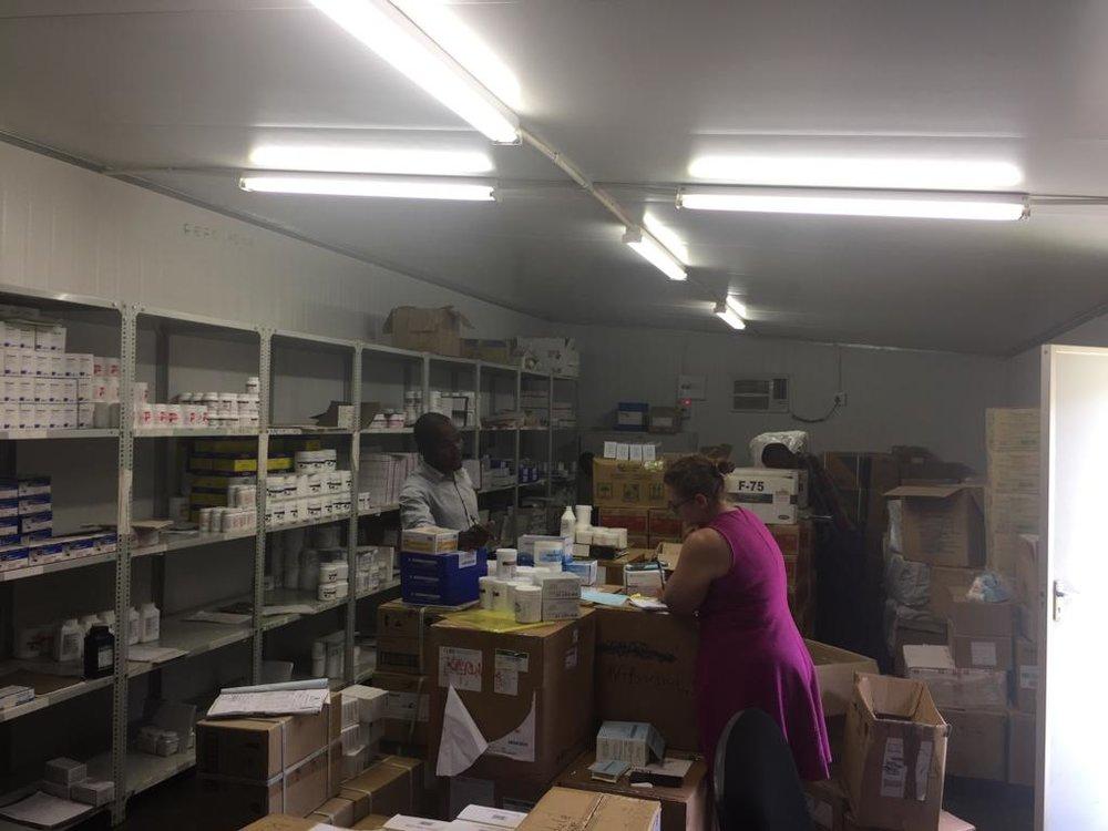 The cold storage pharmacy at Kabudula Hospital