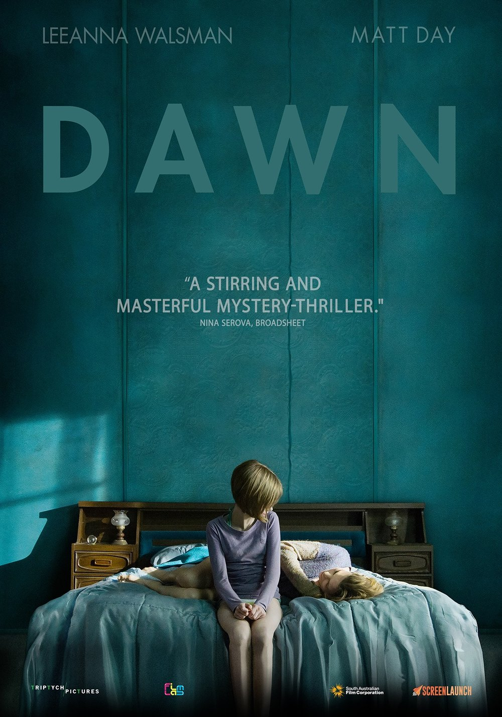 DAWN - tells the story about the nature of love between a mother and her daughter. After committing a violent assault on a familiar stranger, Dawn takes to the road with her daughter in tow. Finding seclusion in a remote motel, and desperate to keep her daughter hidden, Dawn enters into a risky liaison with a local cop. Dawn is hiding from something far greater than her words or actions reveal. Ultimately, her desperation becomes untenable and the past closes in with a devastating twist.Awards & FestivalsDAWN (titled TOUCH for festival release) premiered  at the Sydney Film Festival in 2014 and internationally at Cannes Cinephiles in 2015. DAWN was selected as the opening night film for the Manchester International Film Festival and awarded Best Feature Film at the Asia Pacific Film Festival in 2015.