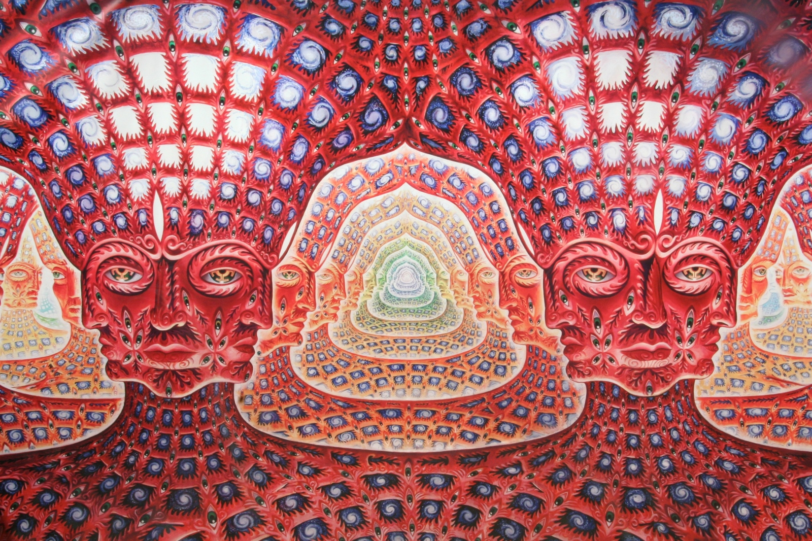 Net of Being by Alex Grey. It's suitably trippy.