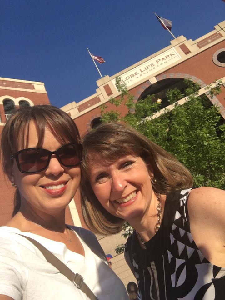 Heather & Marybeth at Globe Life Park in Arlington, TX.