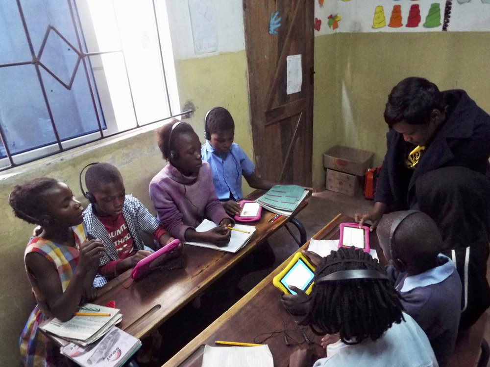 iSchool tablets used for lessons