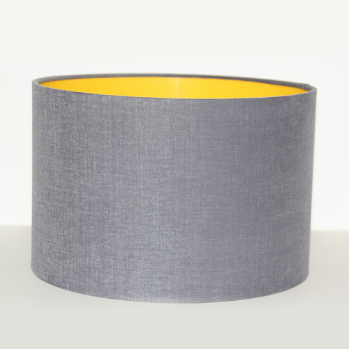 Lampshade design studio slate and yellow drum shade jewellery lampshade design studio slate and yellow drum shade grey drum lampshade aloadofball Image collections
