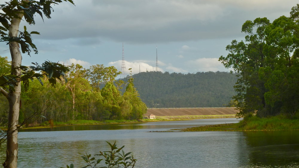 Dam and the back of Mt Coot-tha