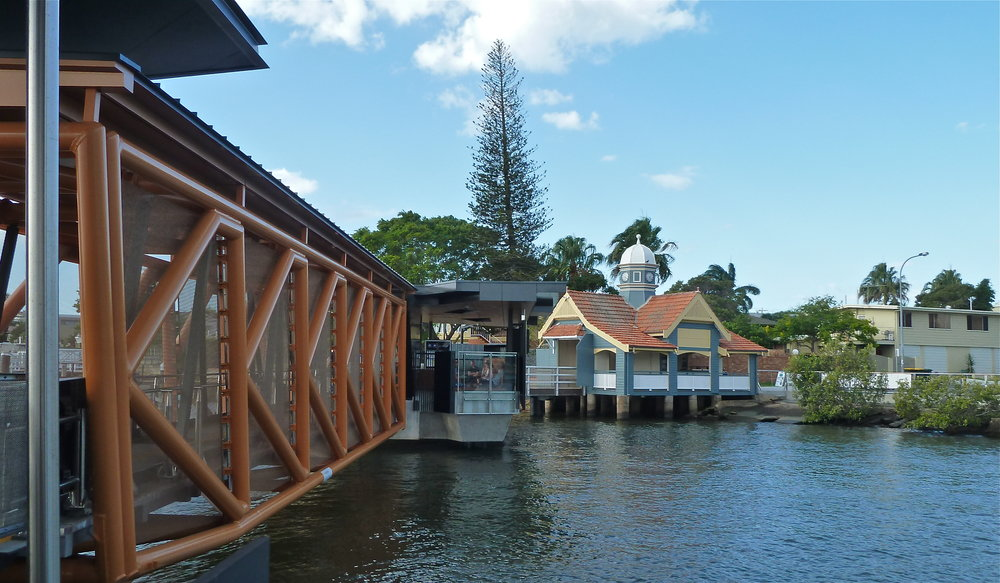 Old and new at Bulimba ferry terminal