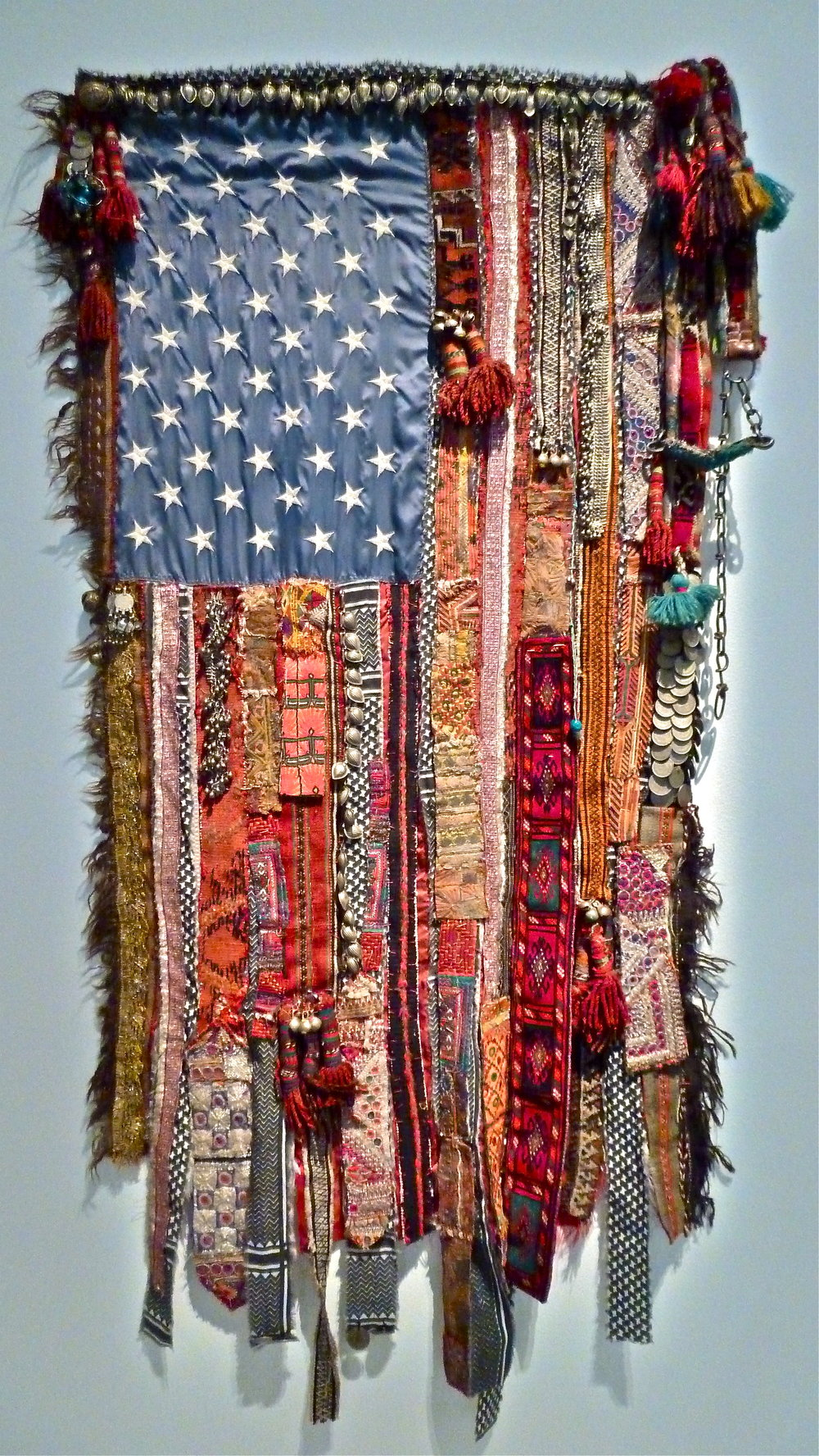 Feb:  collaged flag at GOMA, Brisbane