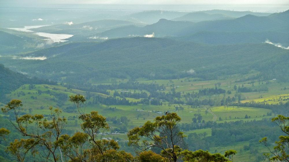 Apr:  view from Binna Burra Mountain Lodge, Lamington National Park, Queensland