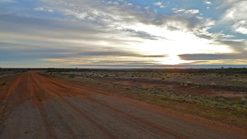Jun:  Silver City Highway from Tibooburra (NSW) to Queensland border