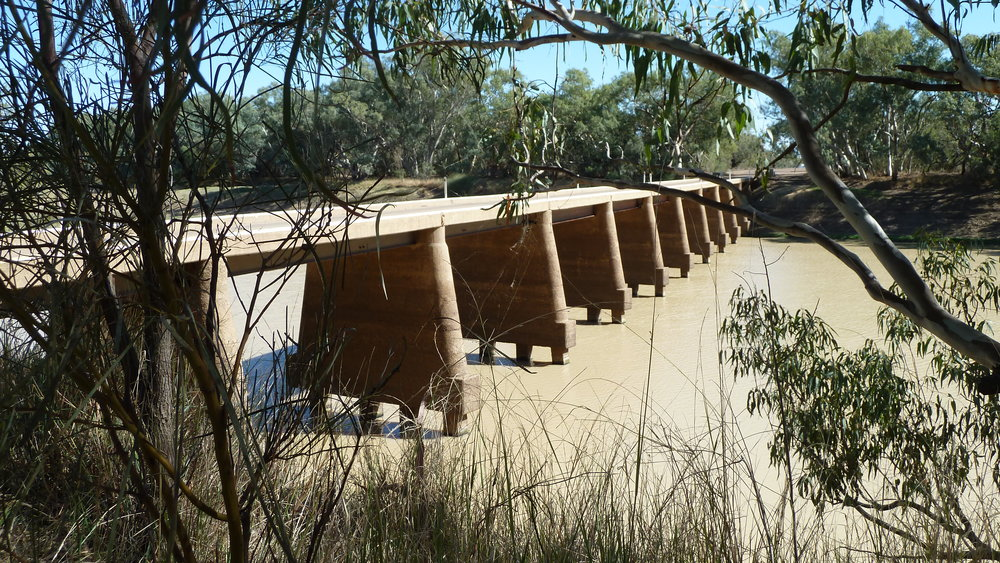 Outback-style bridge (over Cooper's Creek)