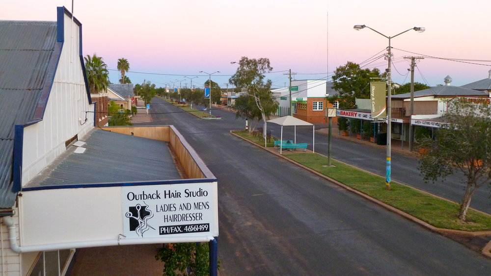 In the pink, above and below: sunrise over Brolga Street and Galahs