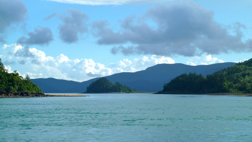 Molle Group of islands with the mainland behind
