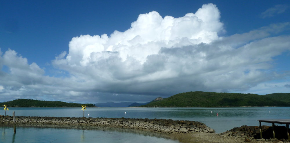 Storm brewing over Whitsunday and South Molle, but not Daydream
