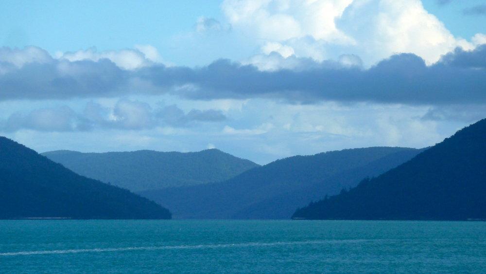 Loving the blues on the way back to Hamilton Island
