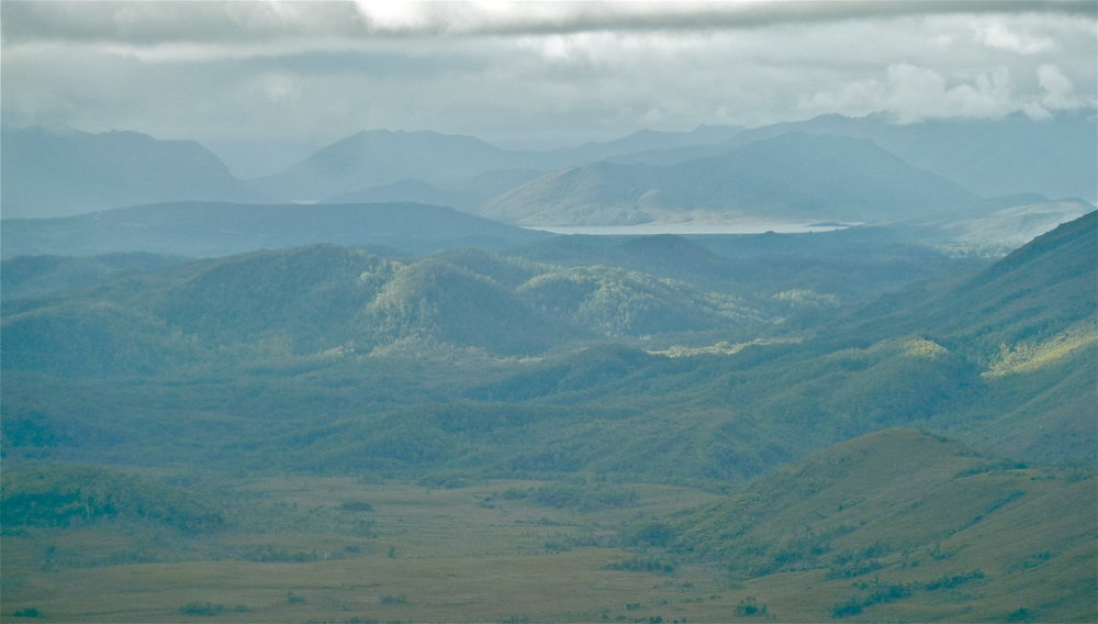 Lake Pedder in the distance