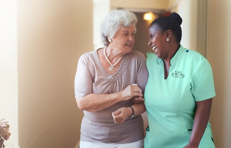 Our Caregiver Champs - All our caregivers are certified health care assistants going through a one-year training course, including practical experience in private hospitals and facilities.