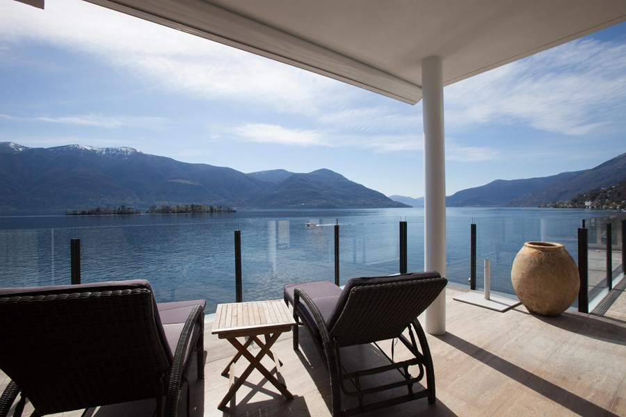 Luxury penthouse at Lake Maggiore, Ticino, Switzerland for sale