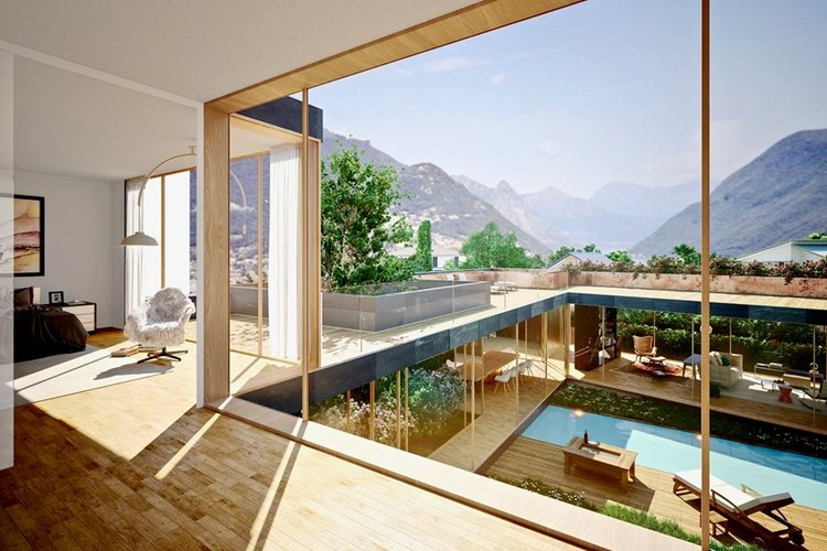 Project of luxury real estate in Collina d'Oro, Lugano for sale.Click the image for more information.