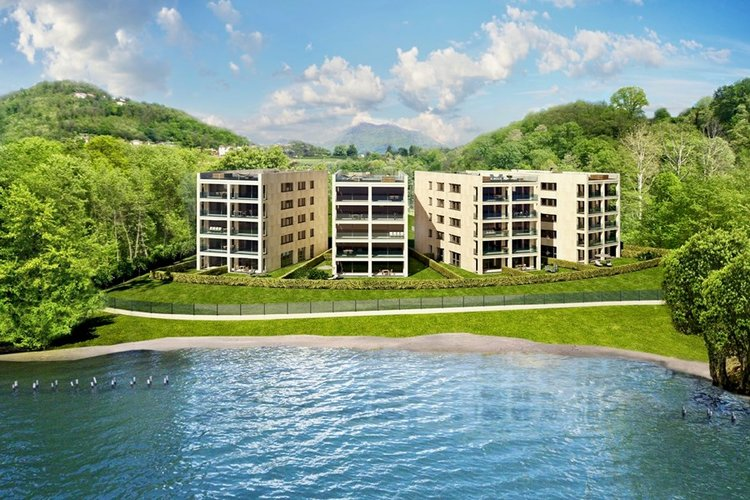 "Residenza ""Cristal"", new apartments & penthouses near Lugano for sale in a unique lake front setting at Lake Lugano."