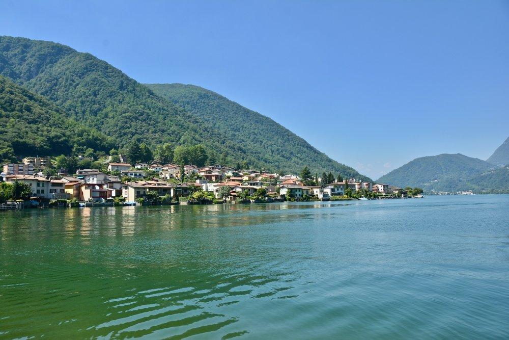 Seesicht auf den Lago die Lugano