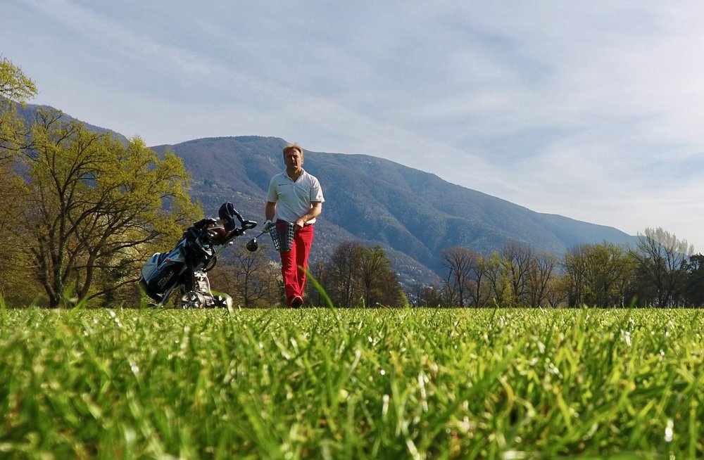 Philipp Peter, owner Wetag Consulting at golf Ascona in Switzerland