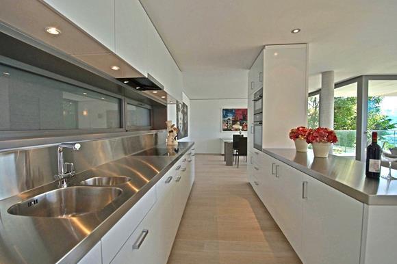 Open kitchen space, apartments for sale in Orselina, Lake Maggiore near Locarno