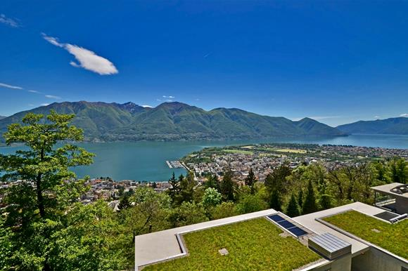 Wide panorama view, apartments for sale in Orselina, Ticino, Switzerland