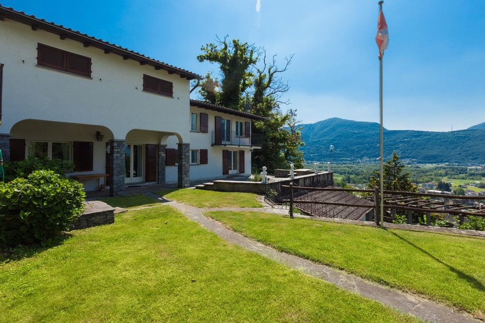 Luxury house for sale in Switzerland, Ticino with panoramic mountain view