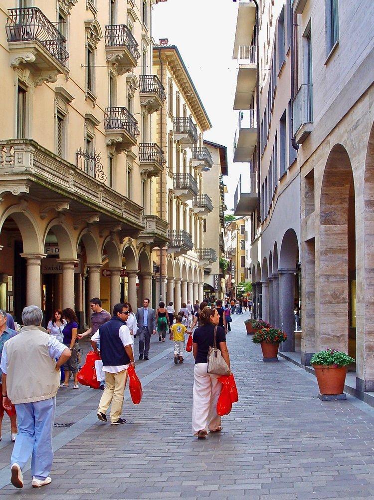 Via Nassa - famous shopping mall at Lugano -Image by  Lugano Turismo