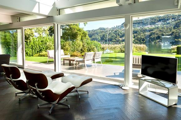 Magnificent HUF style home on the lake Lugano, Ticino, Switzerland for sale