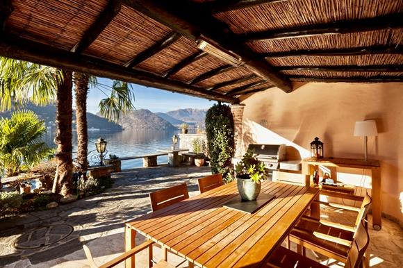 Luxury lakefront home near Lugano for sale, Ticino, Switzerland