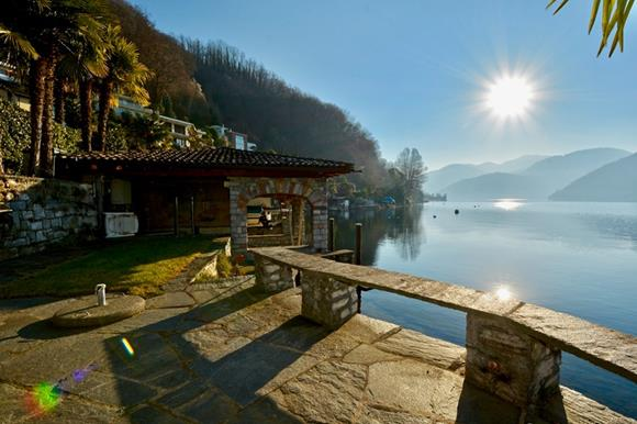 Luxury home with boat place near Lugano, Ticino, Switzerland for sale