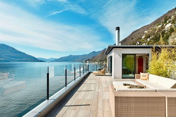 Luxury lake front duplex apartment at lake Maggiore for sale in Ticino, Switzerland