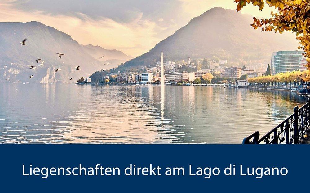 Blick auf den Lago di Lugano, Tessin in der Schweiz
