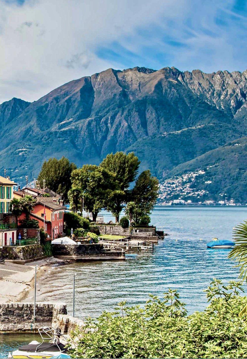 Lungo lago, Gambarogno, Lago Maggiore, Svizzera