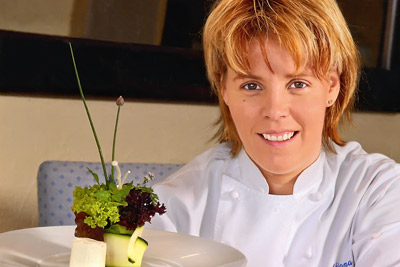 Adriana Broggini,Chef  Ristorante Stazione a Intragna , Canton Ticino,Svizzera