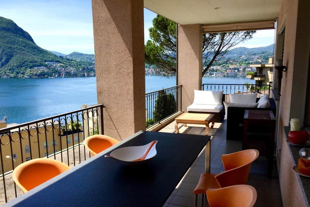 Luxury apartment with lake view in Lugano, Switzerland for sale