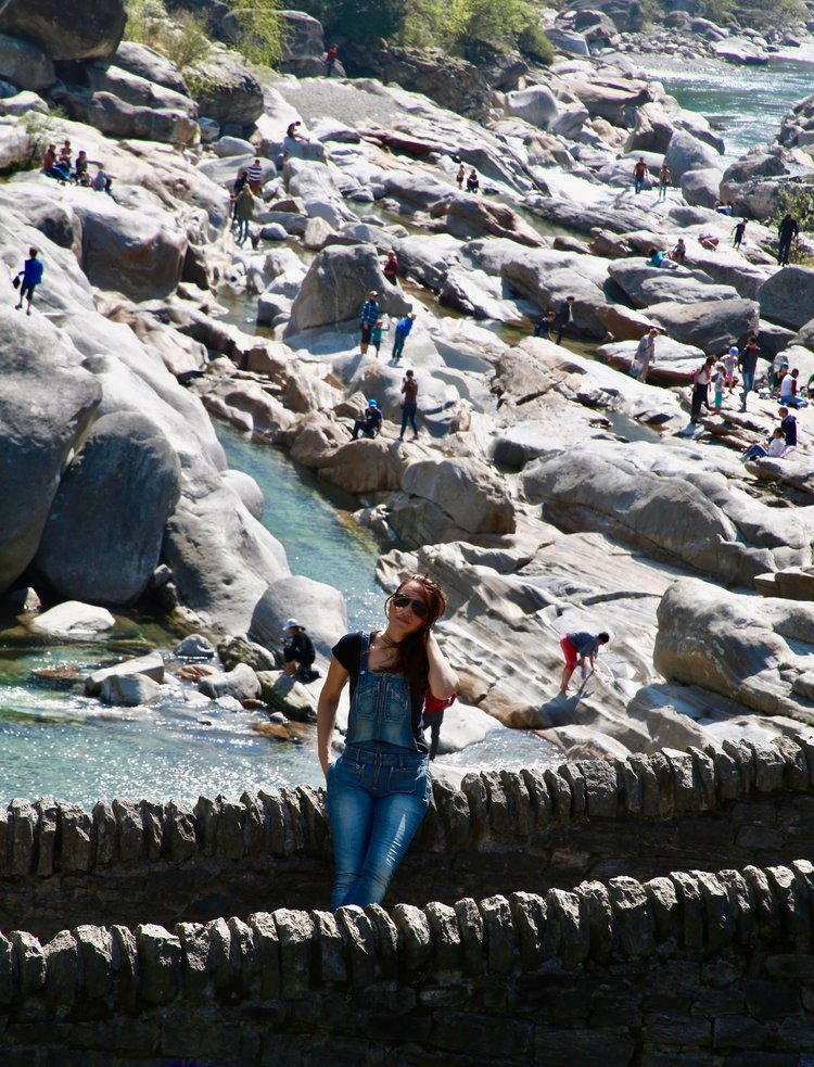 Pamela Pintus at Valle Maggia in Ticino, Switzerland