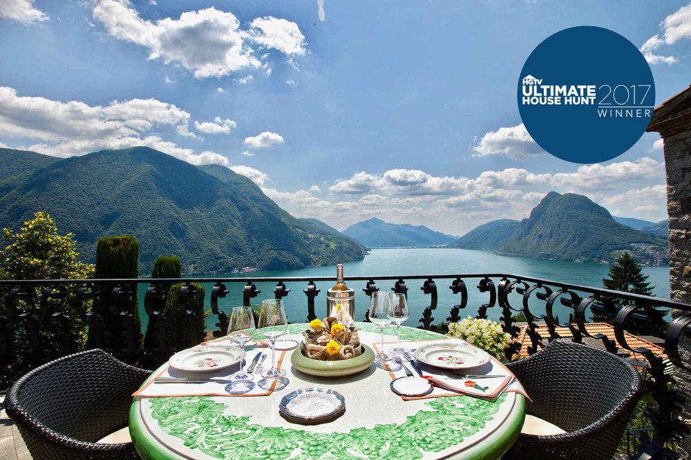 View to Lake Lugano, Luxury real estate in Lugano, Ticino, Switzerland
